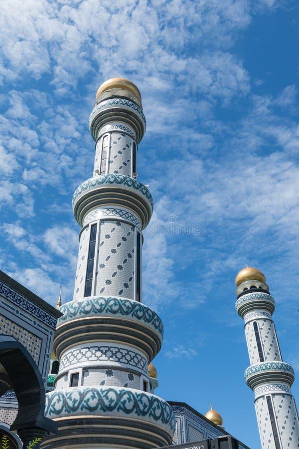 Mesquita do radar de fiscalização aérea Hassanil Bolkiah do ` de Jame em Bandar Seri Begawan, Brunei Darussalam imagem de stock