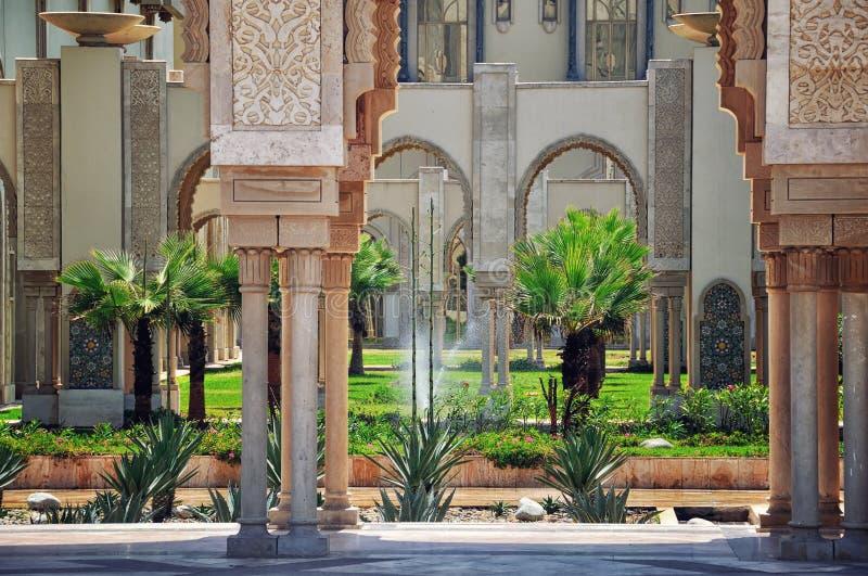 Mesquita do rei Hassan II, Casablanca, Marrocos imagem de stock royalty free