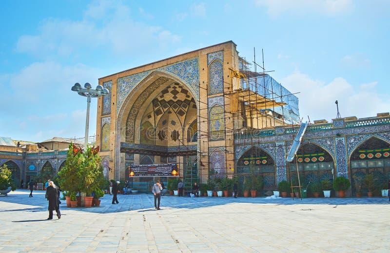 Mesquita do ` s do xá da visita em Tehran imagens de stock royalty free