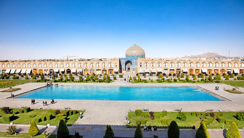 Mesquita do Sheikh Lotfollah, Esfahan, Irã fotografia de stock