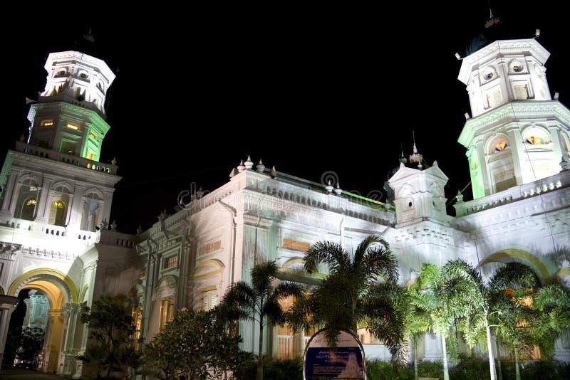 Mesquita do Victorian na noite imagem de stock