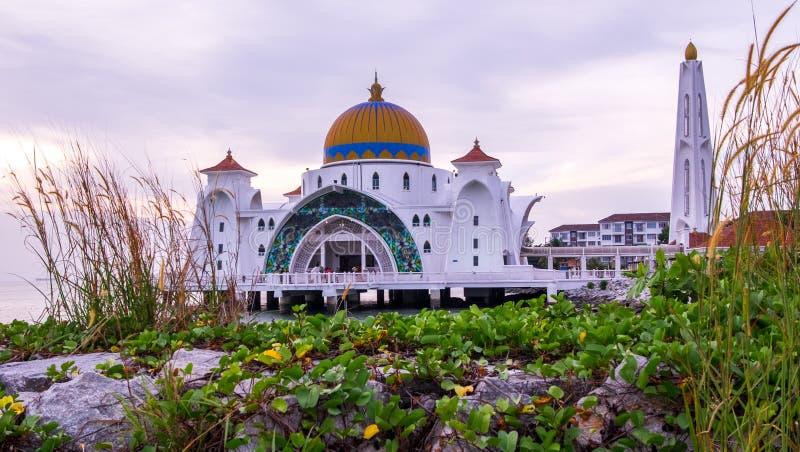 Mesquita dos passos de Melaka em Malásia fotografia de stock royalty free