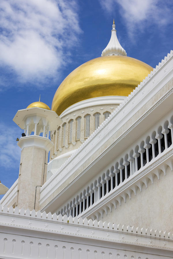 Mesquita dourada da abóbada, Brunei foto de stock royalty free