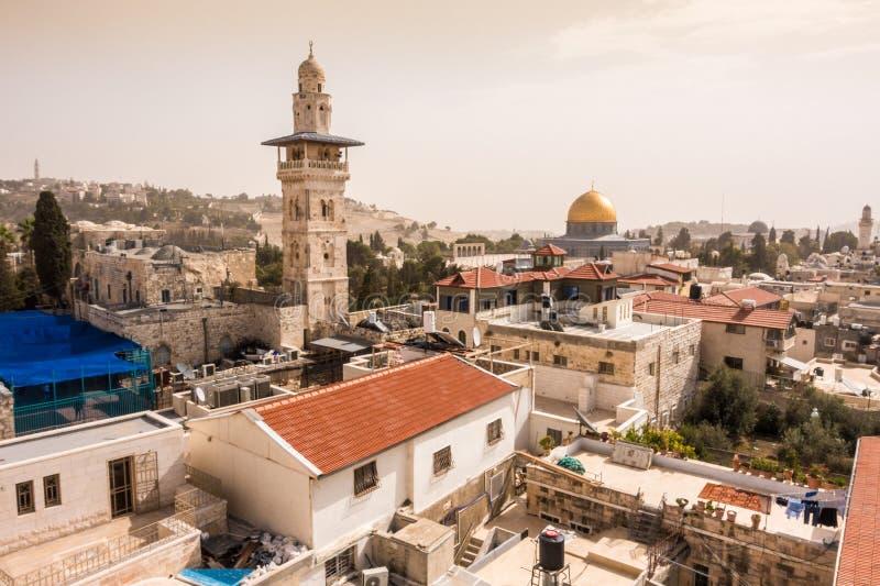 A mesquita e a abóbada da rocha, Jerusalém, Israel fotografia de stock