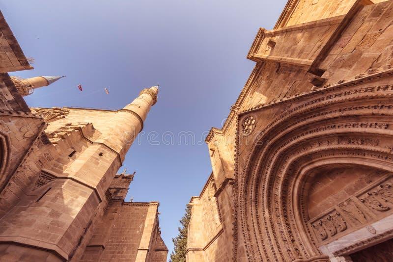 Mesquita e Bedesten de Selimiye Nicosia, Chipre imagens de stock