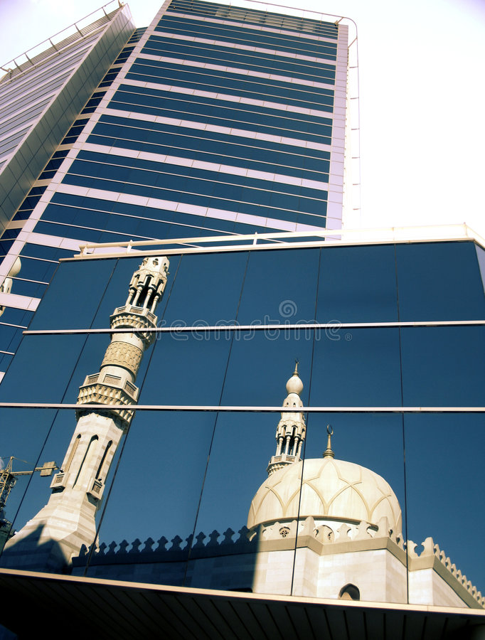 Mesquita e estado fotografia de stock royalty free