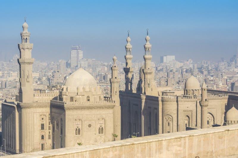 Mesquita e mesquita-Madrassa reais de Sultan Hassan, o Cairo, Egito fotografia de stock royalty free
