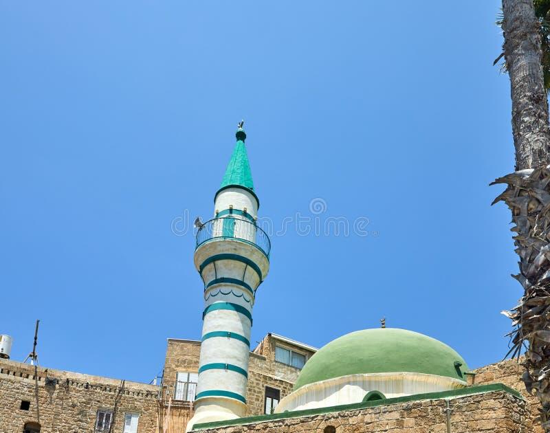 A mesquita EL-Jazzar igualmente conhecida como a mesquita branca é nomeada após o regulador bosniano Ahmad Pasha el-Jazzar do oto imagem de stock