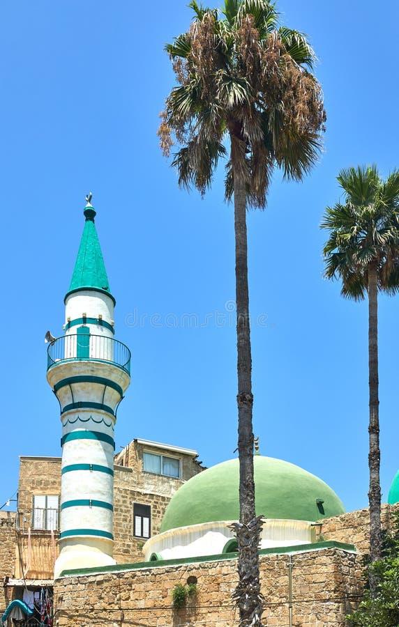 A mesquita EL-Jazzar igualmente conhecida como a mesquita branca é nomeada após o regulador bosniano Ahmad Pasha el-Jazzar do oto fotos de stock royalty free