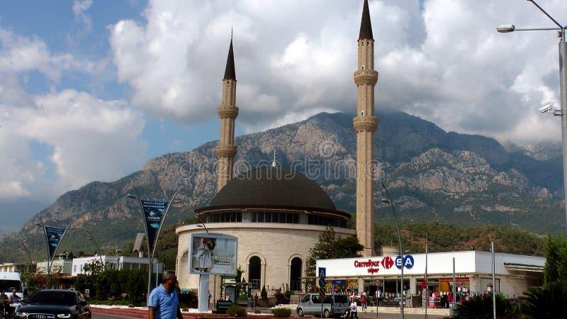 Mesquita em Kemer Turquia foto de stock