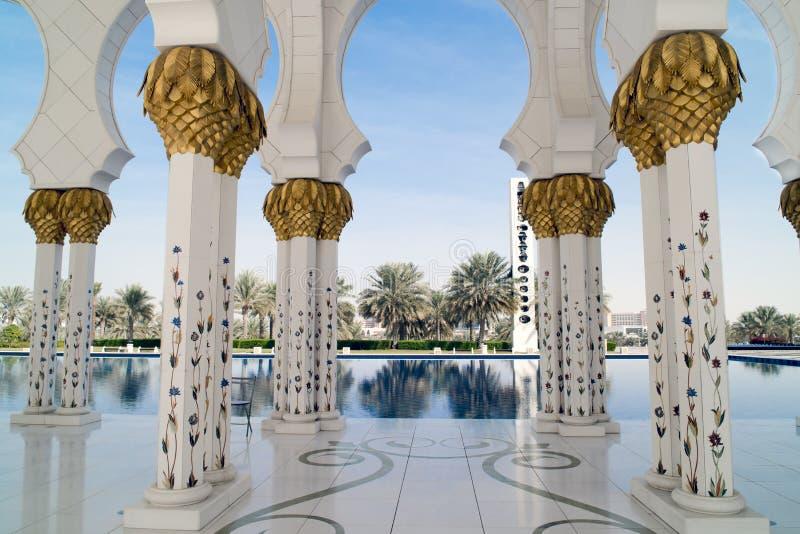 Mesquita grande Abu Dhabi imagem de stock royalty free