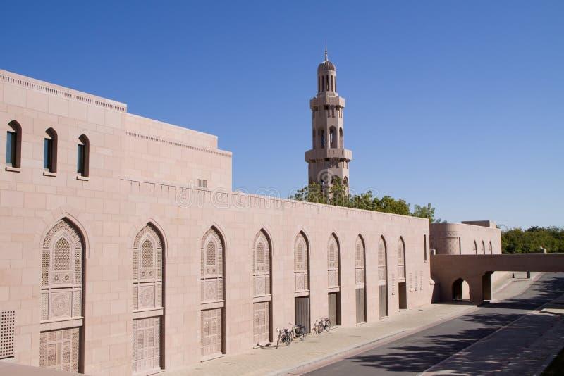 Mesquita grande no Muscat, Oman imagem de stock