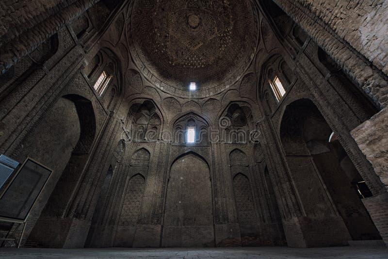 Mesquita interior de Jameh sexta-feira isfahan irã imagens de stock
