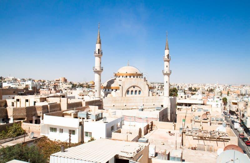 Mesquita islâmica, Madaba, Jordão imagem de stock