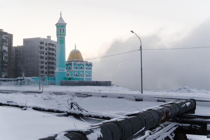 A mesquita a mais northernmost em Norilsk, Federação Russa fotografia de stock