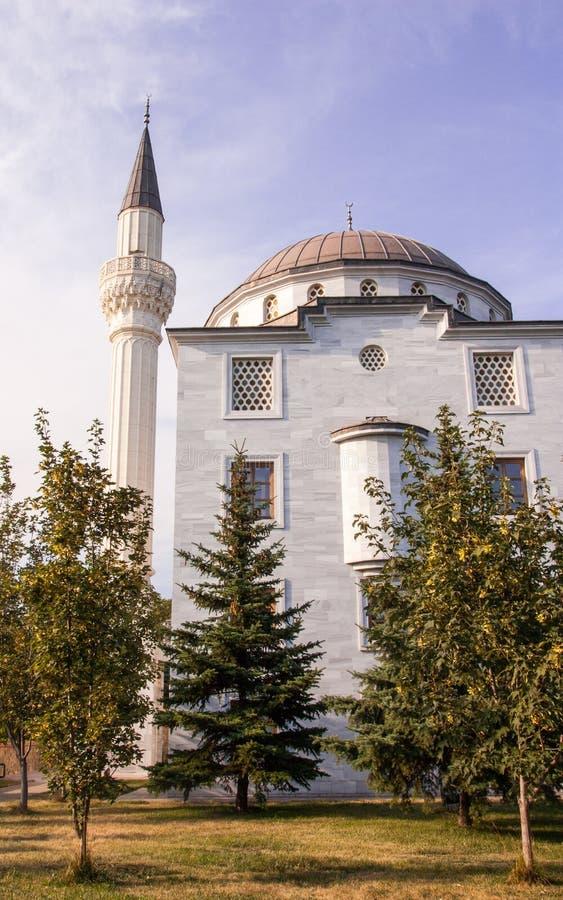 Mesquita moderna no parque fotografia de stock royalty free