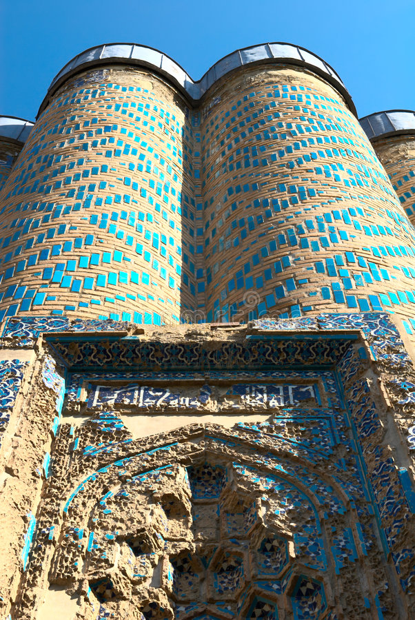Mesquita muçulmana velha foto de stock royalty free