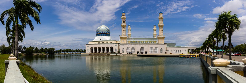 Mesquita na água fotos de stock