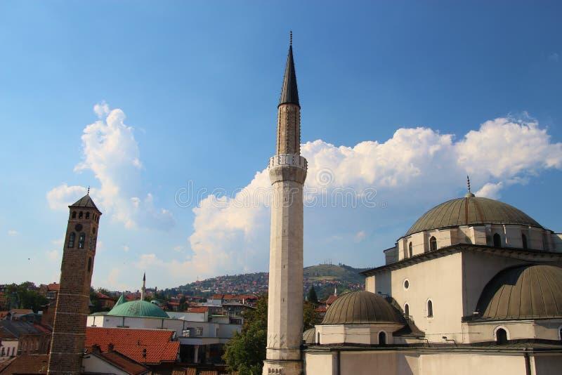 Mesquita na cidade velha de Sarajevo, de Bósnia e de Herzegovina imagem de stock royalty free