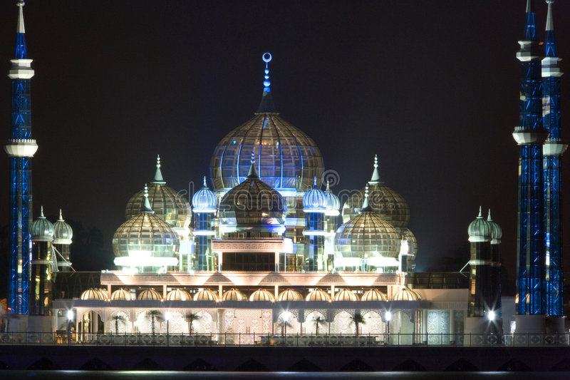 Mesquita na noite fotos de stock royalty free