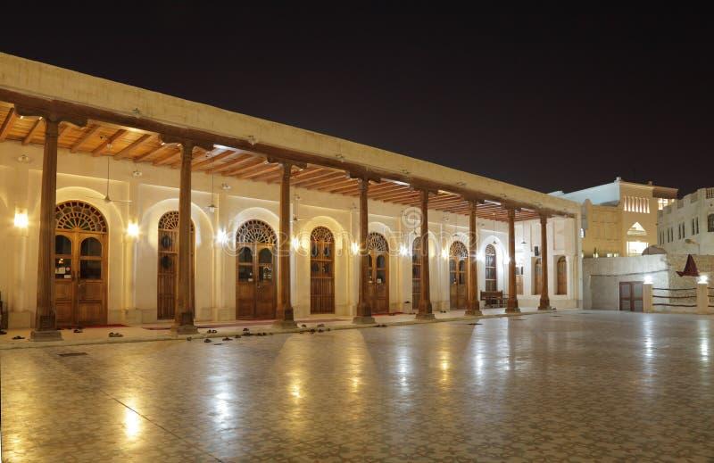 Download Mesquita Na Noite. Doha, Qatar Foto de Stock - Imagem de religioso, iluminado: 26501182