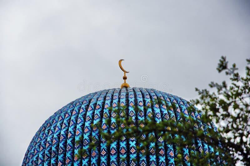 Mesquita no centro da cidade hist?rico de St Petersburg, R?ssia foto de stock