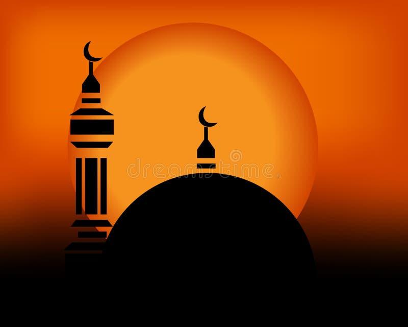 Mesquita no por do sol fotos de stock