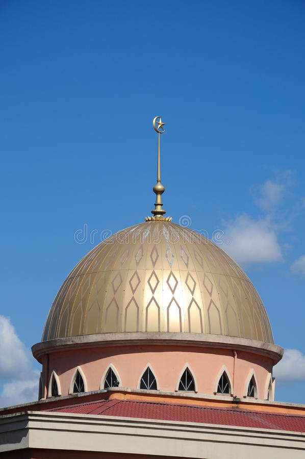 A mesquita nova de Masjid Jamek Jamiul Ehsan a K um Masjid Setapak fotos de stock