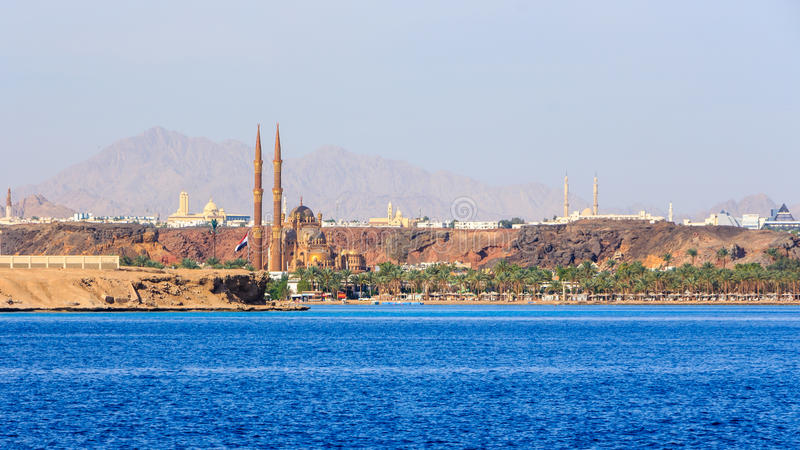 Mesquita nova do Sharm el Sheikh imagem de stock