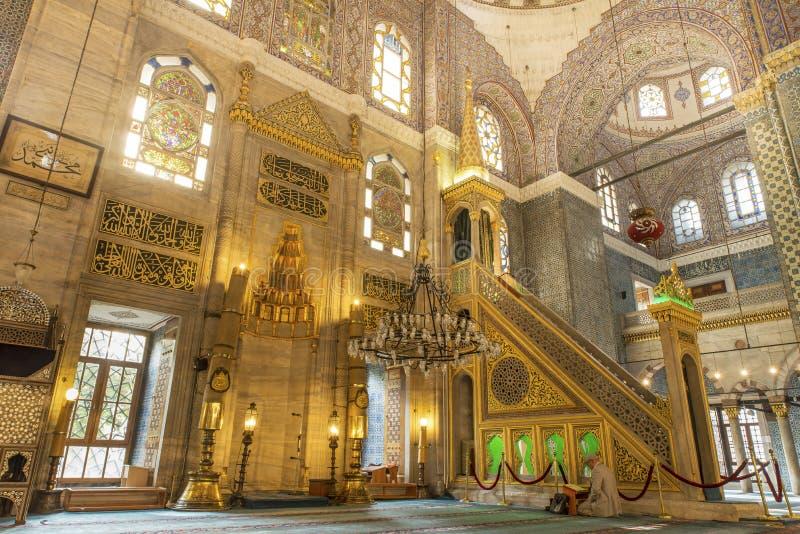 Mesquita nova Istambul imagem de stock