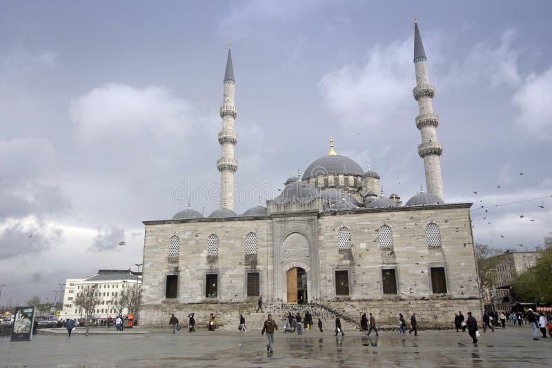 Mesquita nova Yeni Camii Istanbul fotografia de stock