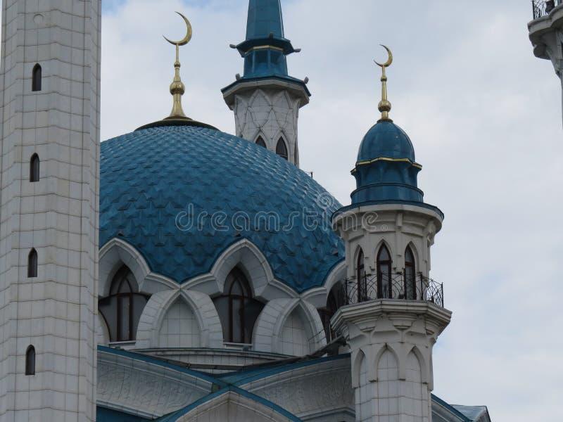 A mesquita principal de Kazan Kul Sharif no Kremlin imagens de stock royalty free