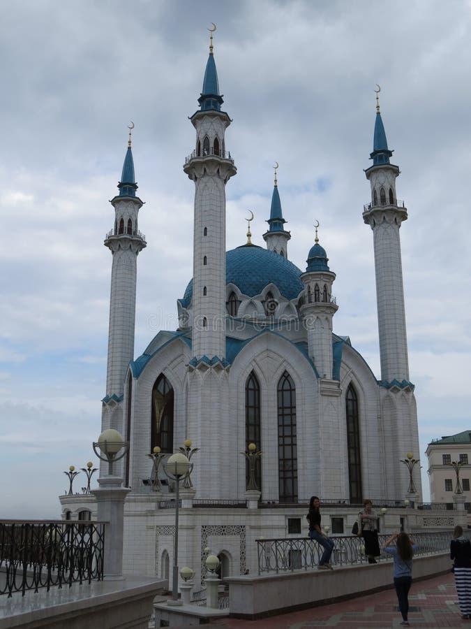 A mesquita principal de Kazan Kul Sharif no Kremlin foto de stock