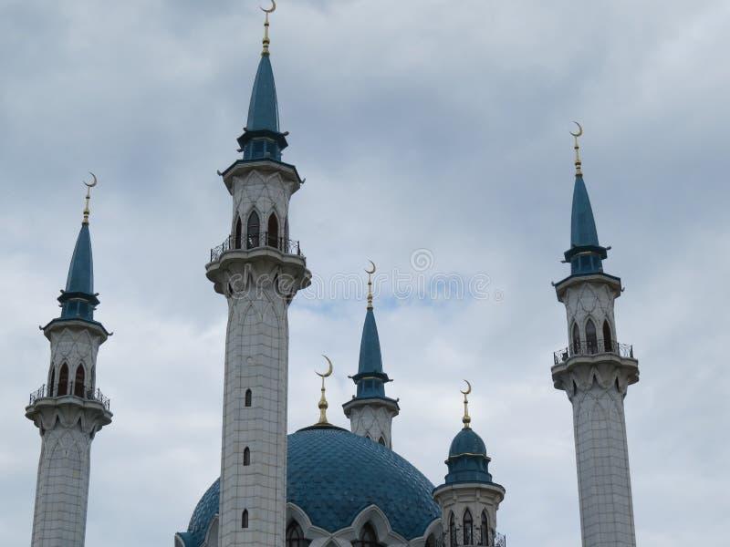 A mesquita principal de Kazan Kul Sharif no Kremlin fotos de stock