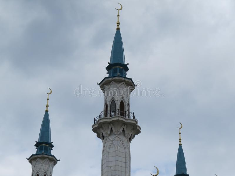 A mesquita principal de Kazan Kul Sharif no Kremlin imagens de stock