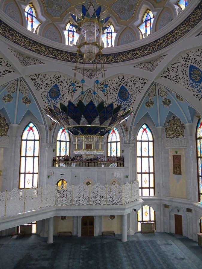 A mesquita principal de Kazan Kul Sharif no Kremlin fotos de stock royalty free