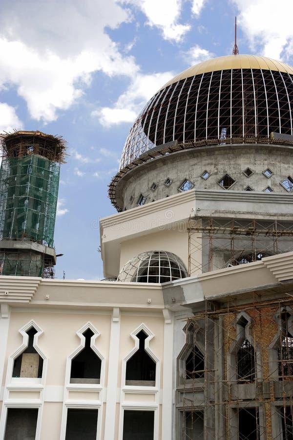 Mesquita sob a construção imagem de stock