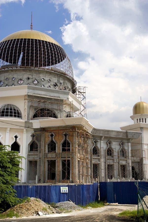 Mesquita sob a construção imagens de stock