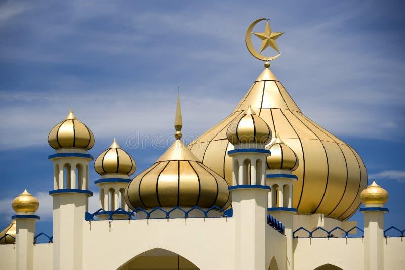 Mesquita velha da cidade pequena imagem de stock