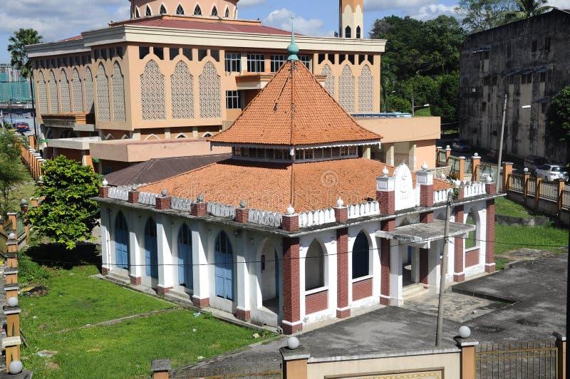 A mesquita velha de Masjid Jamek Jamiul Ehsan a K um Masjid Setapak foto de stock royalty free