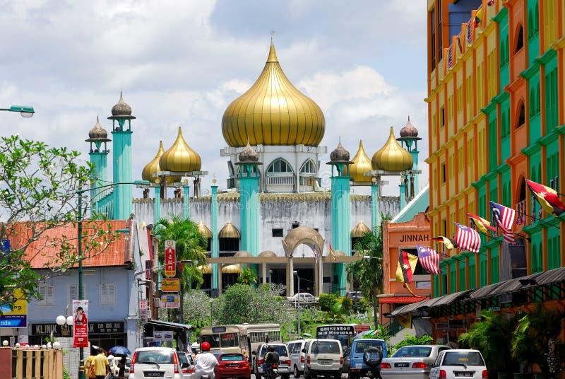 Mesquita velha do estado/mesquita de Kuching fotos de stock