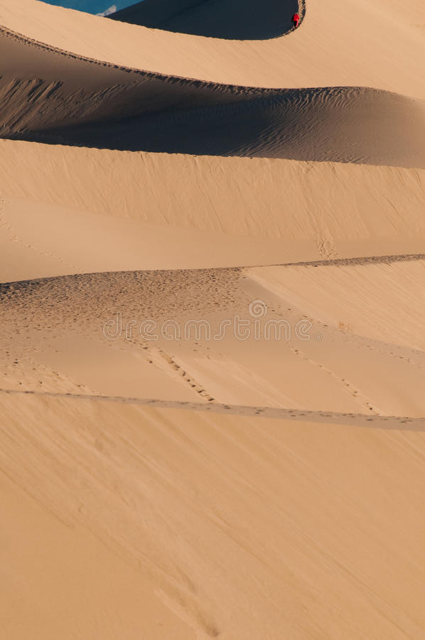 Free Mesquite Sand Dunes And Mountains In Death Valley Royalty Free Stock Photos - 12365788