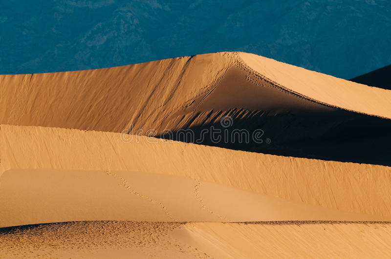 Download Mesquite Sand Dunes And Mountains In Death Valley Stock Image - Image: 12365775