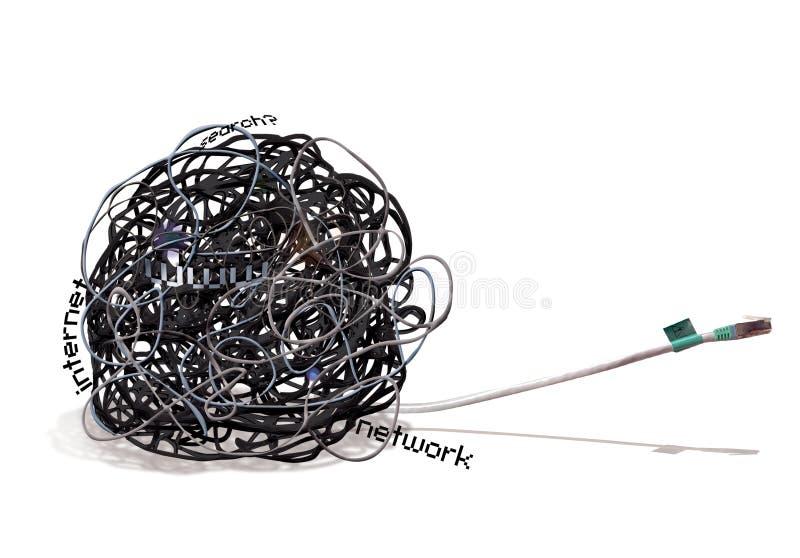 Mess do fio da conexão de TAGLED foto de stock