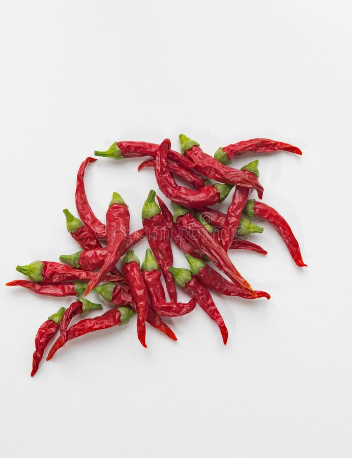 Mess of Red Hot Peppers royalty free stock photos
