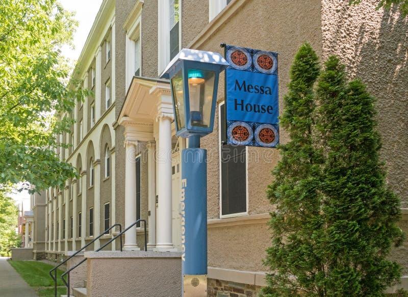 Messa domu szkoły wyższa Zrzeszeniowy dormitorium zdjęcie royalty free