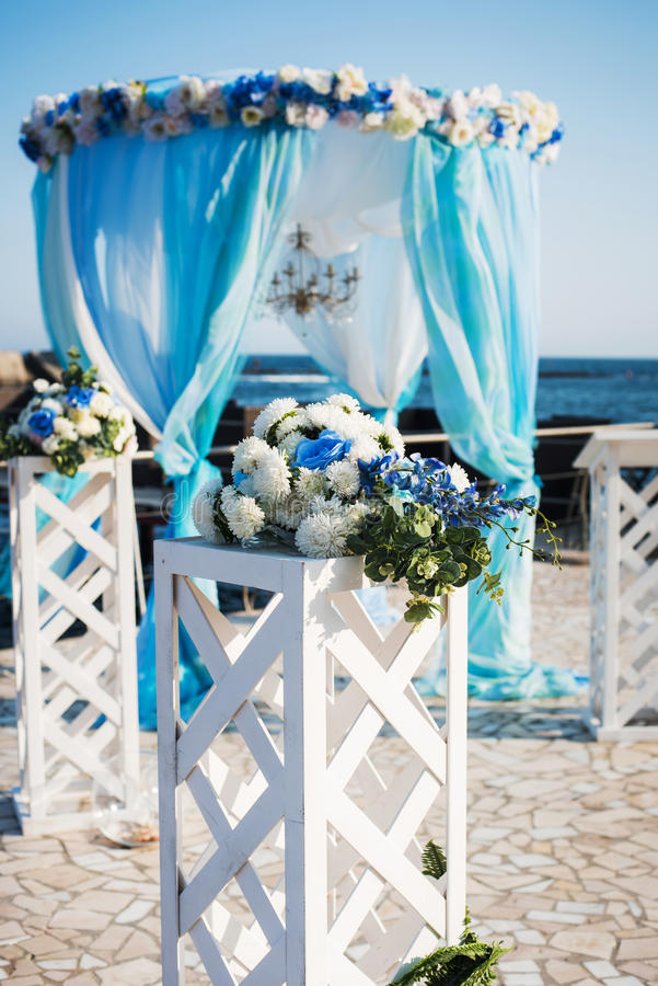 messa in opera di nozze sulla spiaggia fotografia stock libera da diritti