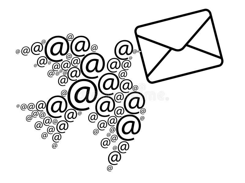 Message électronique illustration stock