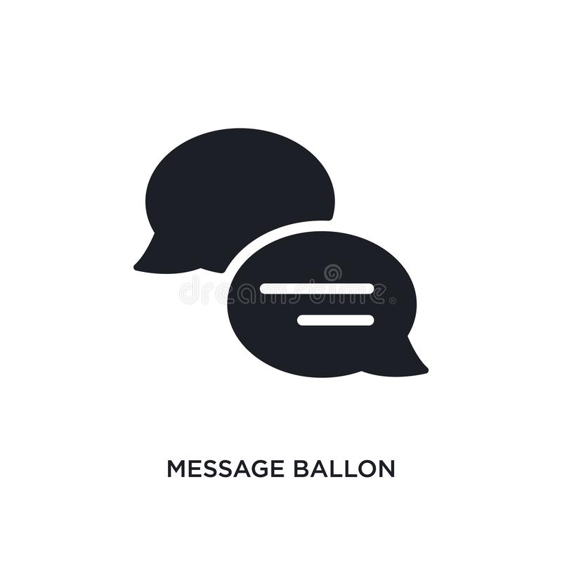 Message ballon isolated icon. simple element illustration from ultimate glyphicons concept icons. message ballon editable logo. Sign symbol design on white vector illustration