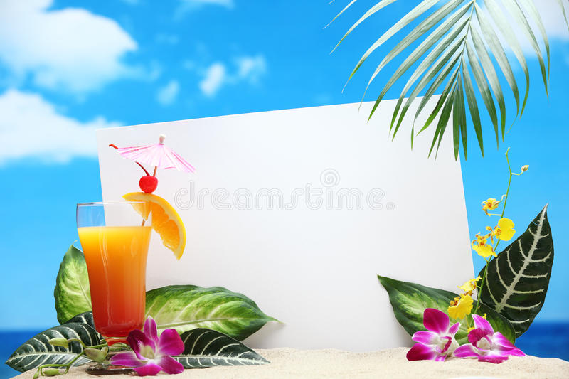 Message From Beach Stock Images